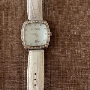 white leather Joan Rivers watch
